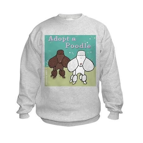 Adopt a Poodle! Kids Sweatshirt