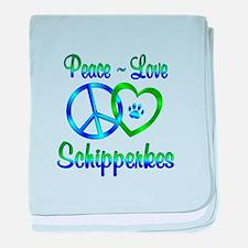 Peace Love Schipperkes baby blanket