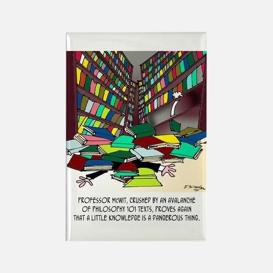 Philosophy Texts Are Dangerous Rectangle Magnet