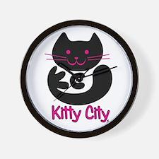 Kitty City Wall Clock