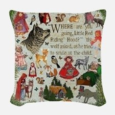Red Riding Hood Woven Throw Pillow