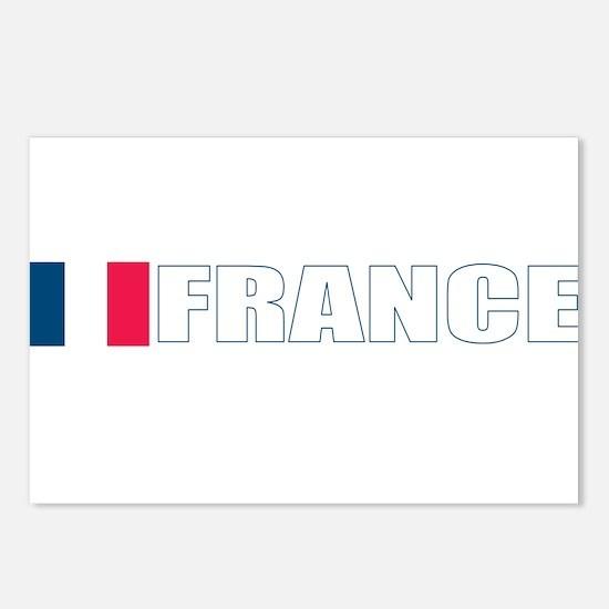 France Flag (Dark) Postcards (Package of 8)