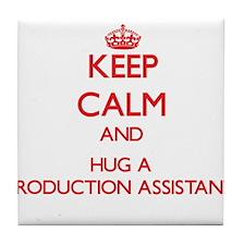 Keep Calm and Hug a Production Assistant Tile Coas