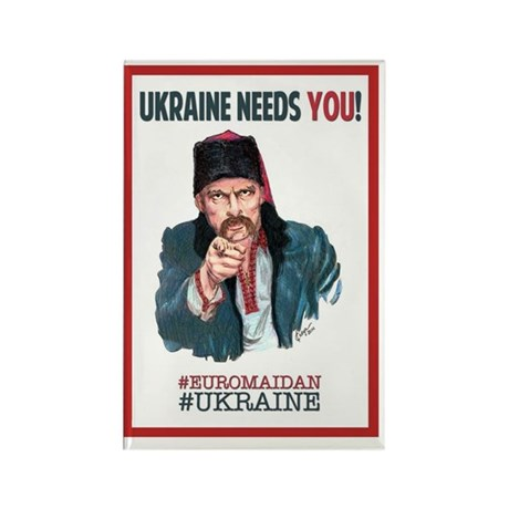 Ukraine Needs YOU! Rectangle Magnet