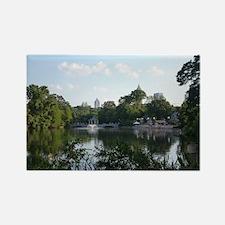Atlanta Piedmont Park City Lake a Rectangle Magnet