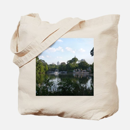 Atlanta Piedmont Park City Lake and Skyli Tote Bag