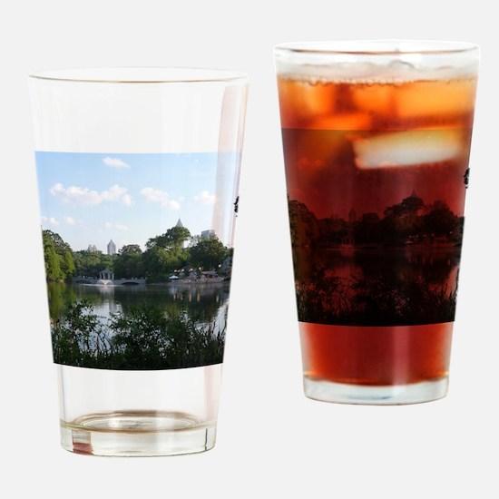 Atlanta Piedmont Park City Lake and Drinking Glass