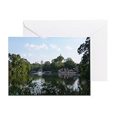 Atlanta Piedmont Park City Lake and  Greeting Card