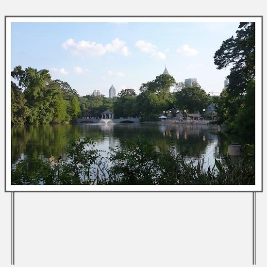 Atlanta Piedmont Park City Lake and Skyl Yard Sign
