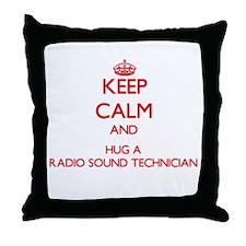 Keep Calm and Hug a Radio Sound Technician Throw P
