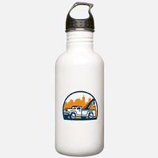 Vintage Tow Truck Wrecker Retro Water Bottle