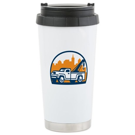 Vintage Tow Truck Wrecker Retro Travel Mug