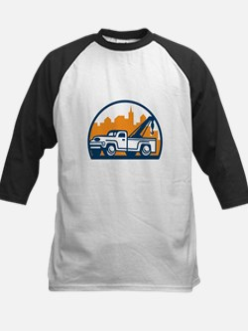 Vintage Tow Truck Wrecker Retro Baseball Jersey
