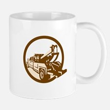 Tow Truck Wrecker Rear Retro Mugs