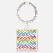Cute Rainbow Chevron Pattern 3 Keychains