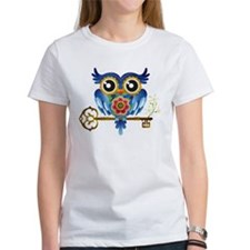Owl on Skeleton Key T-Shirt