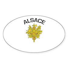 Alsace, France Oval Decal
