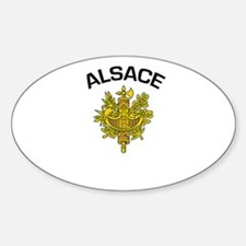 Alsace, France Oval Decal