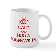 Keep Calm and Hug a Screenwriter Mugs