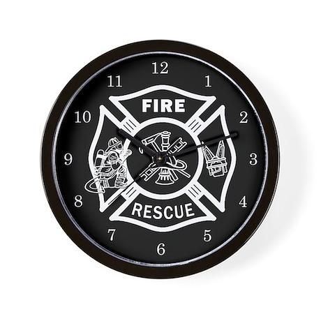Fire Rescue Wall Clock