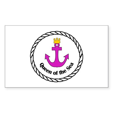 Queen of the Sea Gifts Rectangle Sticker