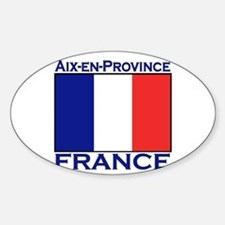 Aix-en-Provence, France Oval Decal