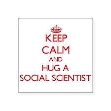 Keep Calm and Hug a Social Scientist Sticker