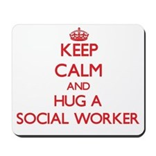 Keep Calm and Hug a Social Worker Mousepad