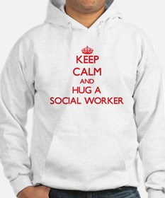 Keep Calm and Hug a Social Worker Hoodie