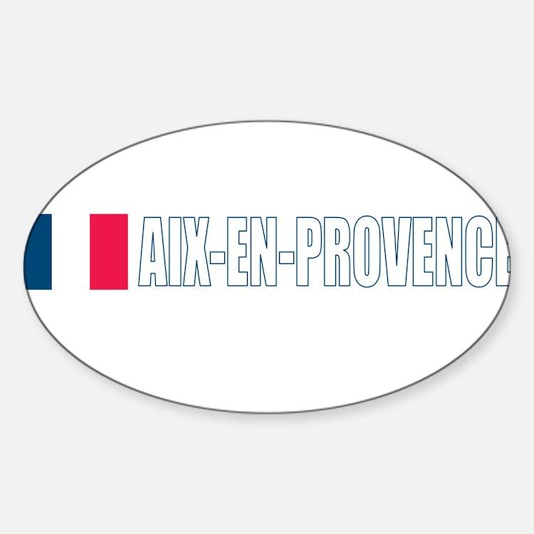 Aix-en-Provence, France Oval Decal