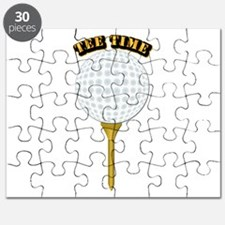 Golf Tee-Time with Text Puzzle