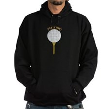 Golf Tee-Time with Text Hoodie