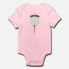 Golf Tee-Time with Text Infant Bodysuit
