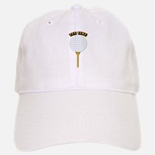 Golf Tee-Time with Text Baseball Baseball Cap