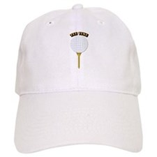 Golf Tee-Time with Text Baseball Cap