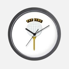 Golf Tee-Time with Text Wall Clock