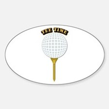 Golf Tee-Time with Text Sticker (Oval)