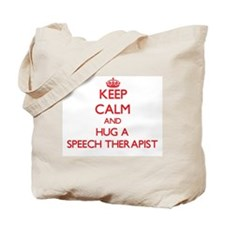 Keep Calm and Hug a Speech Therapist Tote Bag