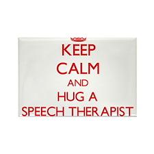 Keep Calm and Hug a Speech Therapist Magnets
