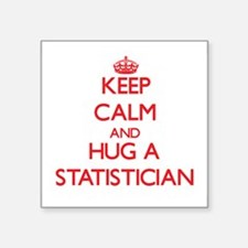 Keep Calm and Hug a Statistician Sticker