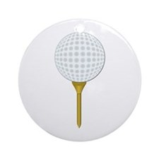 Golf Tee-Time No Text Ornament (Round)