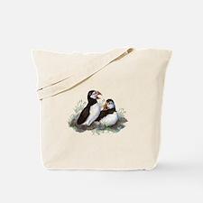 Cute Watercolor Puffin Ocean Bird Art Tote Bag