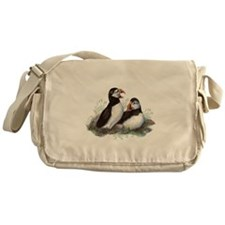 Cute Watercolor Puffin Ocean Bird Art Messenger Ba