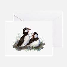 Cute Watercolor Puffin Ocean Bird Ar Greeting Card