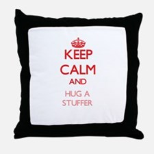 Keep Calm and Hug a Stuffer Throw Pillow