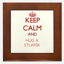 Keep Calm and Hug a Stuffer Framed Tile
