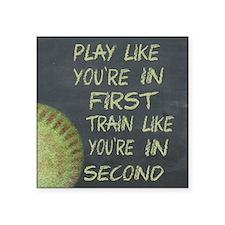In First Fastpitch Softball Motivational Sticker