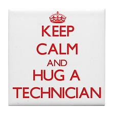 Keep Calm and Hug a Technician Tile Coaster