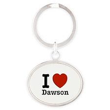 I love Dawson Oval Keychain