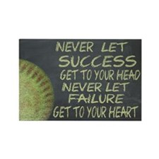 Success Fastpitch Softball Motiva Rectangle Magnet
